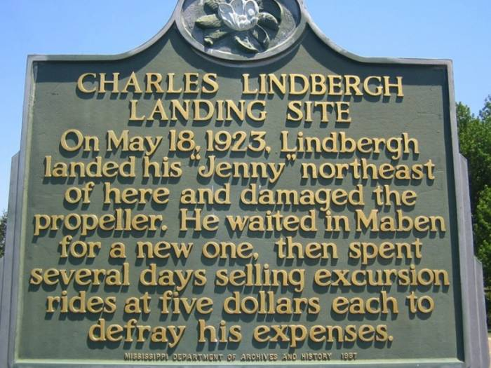 [The Charles Lindbergh Landing Site]